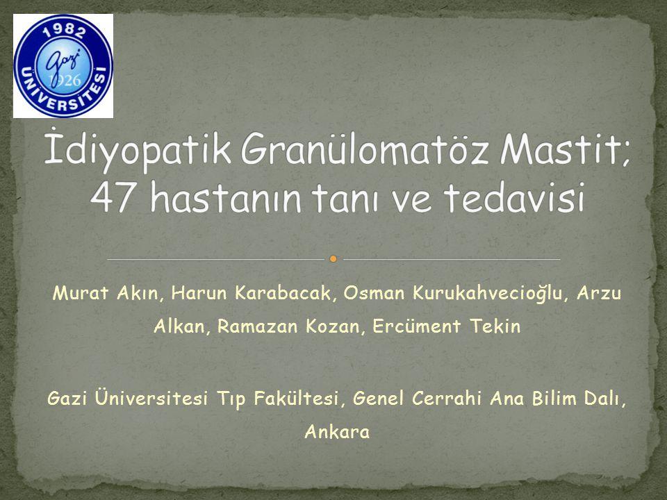 Granülomatöz lobüler mastit veya granülomatöz lobülit adı verilen granülomatöz mastit (GM), memenin nadir görülen, kronik, inflamatuar ve tanısı ancak histopatolojik olarak konan hastalığıdır Spesifik tanı ilk kez Kessler ve Walloch tarafından 1972 yılında tanımlanmıştır İdiyopatik ve spesifik GM şeklinde iki tipi tanımlanmıştır Spesifik GM, sarkoidoz, tüberküloz, mikotik enfeksiyon, paraziter enfeksiyon sırasında görülebilir.