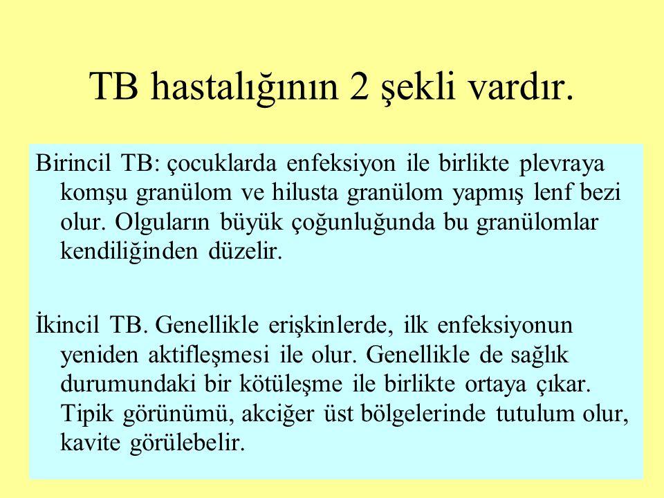 TB hastalığının 2 şekli vardır.