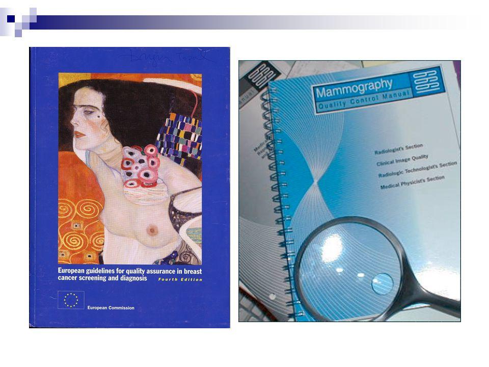 Personel bilgi ve eğitimi  Radyolog  Teknisyen  Medikal fizikçi Teknik faktörler  Kalite kontrol testleri (cihaz, banyo, vs) Kayıt ve raporlar Hizmet kalitesi MG kalite standartları