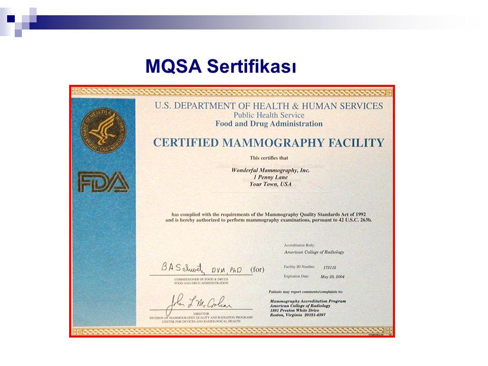 MQSA Sertifikası