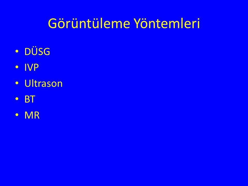 Görüntüleme Yöntemleri DÜSG IVP Ultrason BT MR