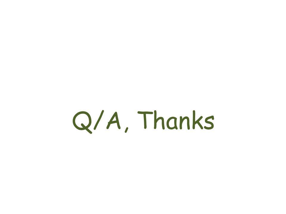 Q/A, Thanks