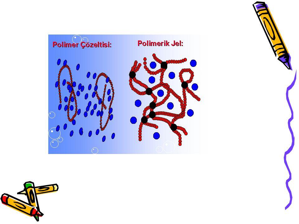 Fiziksel yapılarına göre; 1- Amorf hidrojeller : Makromolekül zincirleri gelişigüzel yerleşmiştir.