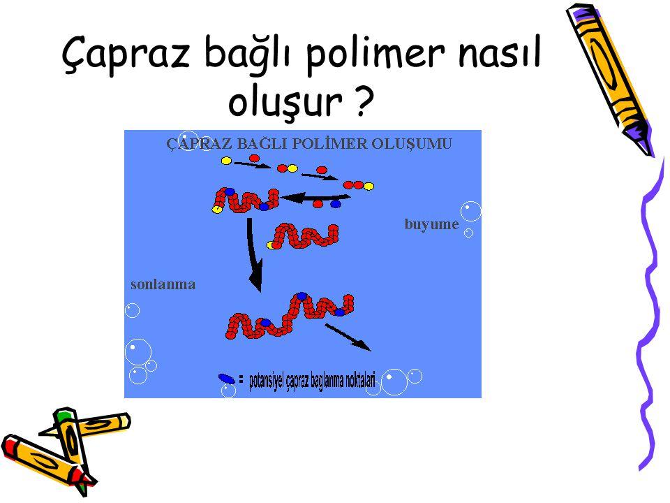 Çapraz bağlı polimer nasıl oluşur ?