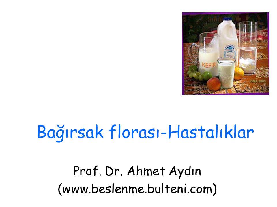 Bağırsak florası-Hastalıklar Prof. Dr. Ahmet Aydın (www.beslenme.bulteni.com)