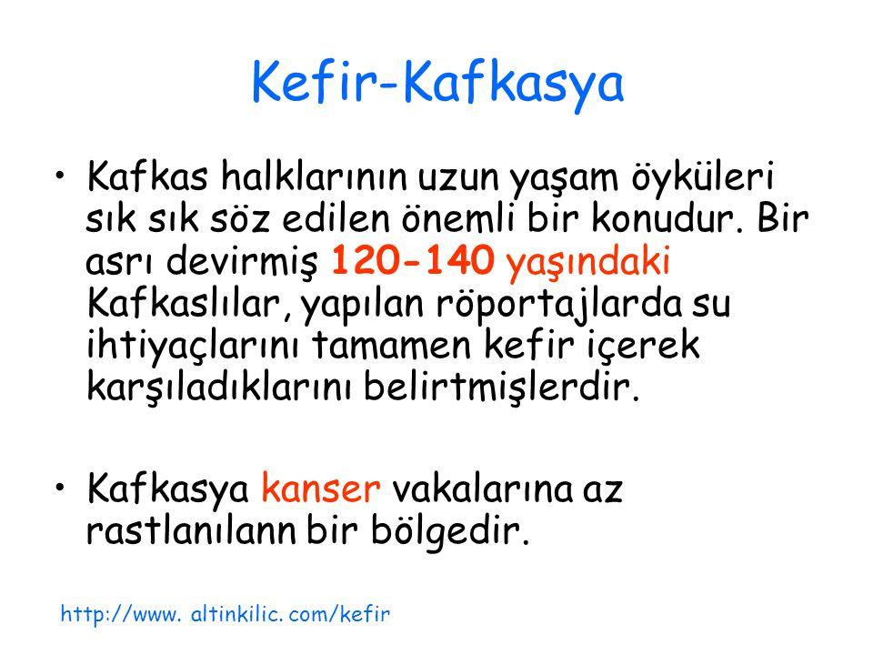 Kefir-Kafkasya Kafkas halklarının uzun yaşam öyküleri sık sık söz edilen önemli bir konudur. Bir asrı devirmiş 120-140 yaşındaki Kafkaslılar, yapılan