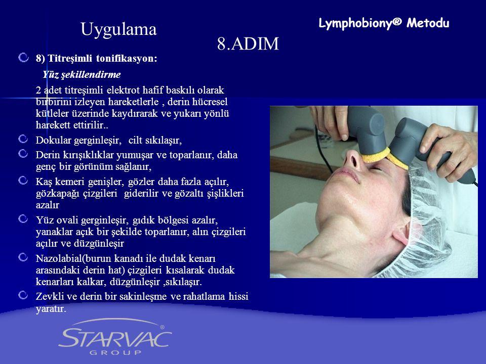 9.ADIM 9) Anti-Wrinkle Regenerant kırışıklık önleyici serum uygulanır Lymphobiony® Metodu Uygulama
