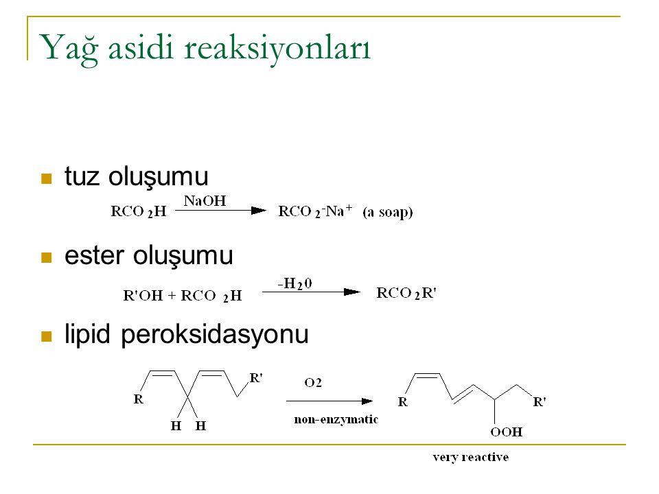 Kurumayan, Yarı-kuruyan ve Kuruyan Yağlar Yağların otooksidasyonunun ve polimerizasyonunun bir ölçüsüdür (boya ve verniklerde önemli).