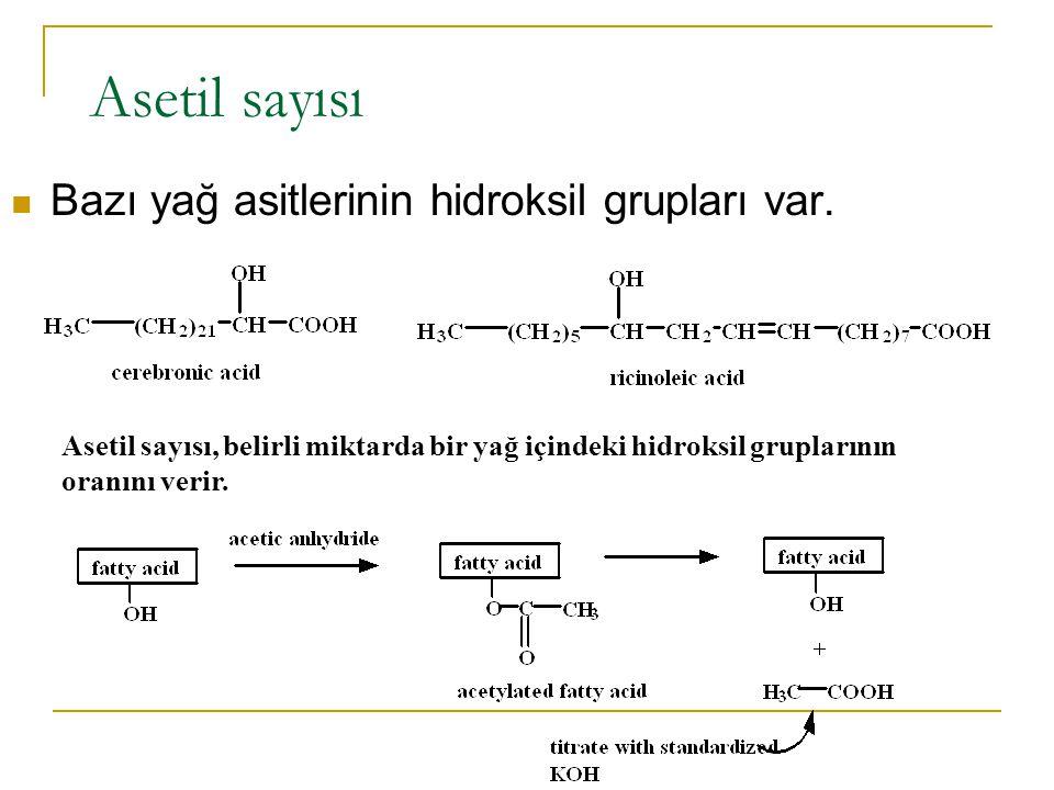 Yağ asidi reaksiyonları tuz oluşumu ester oluşumu lipid peroksidasyonu