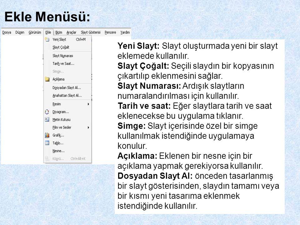 Anahattan Slayt Al: Tasarımların kayıt edildiği klasörden slayt veya diğer çalışma dosyalarının alınması.
