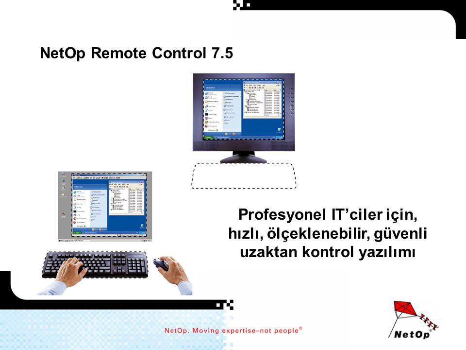 NetOp Remote Control 7.5 Profesyonel IT'ciler için, hızlı, ölçeklenebilir, güvenli uzaktan kontrol yazılımı