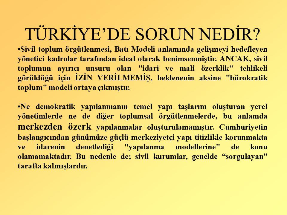 TÜRKİYE'DE SORUN NEDİR.