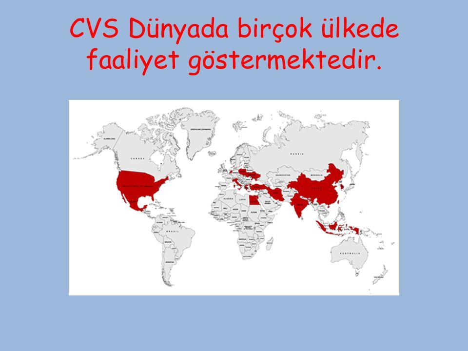 CVS Dünyada birçok ülkede faaliyet göstermektedir.