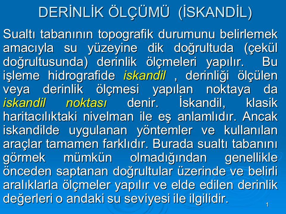 32 MODERN DERİNLİK ÖLÇME YÖNTEMLERİ  2.