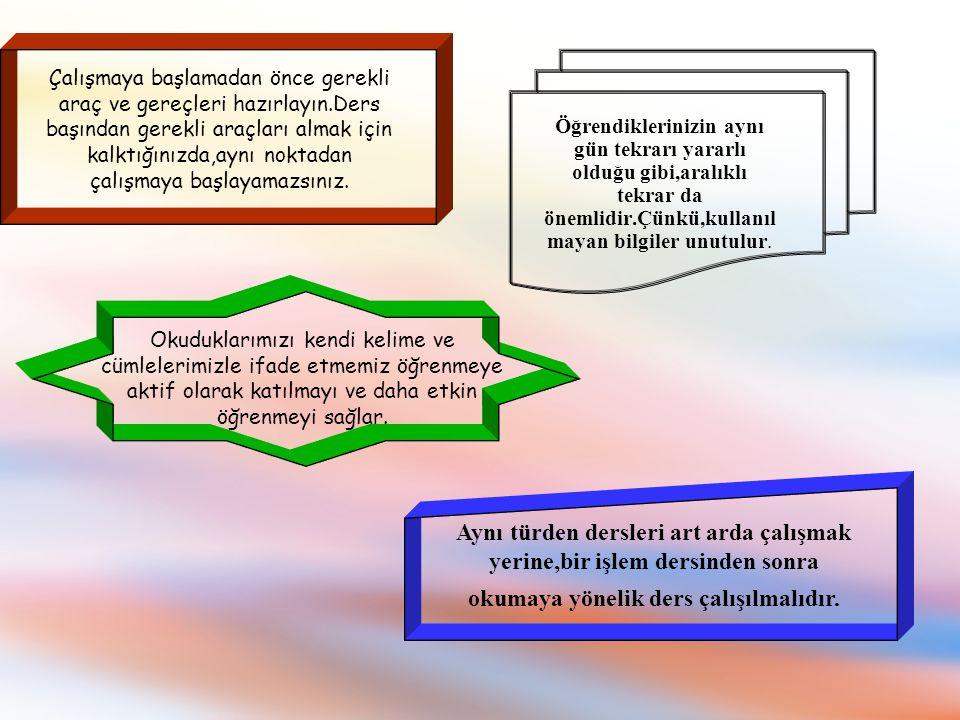 Eğer öğretmen çok hızlı ya da düzeyinizin üzerinde anlatıyorsa; a)Öğretmenden daha yavaş anlatmasını ya da tekrar etmesini isteyebiliriz.
