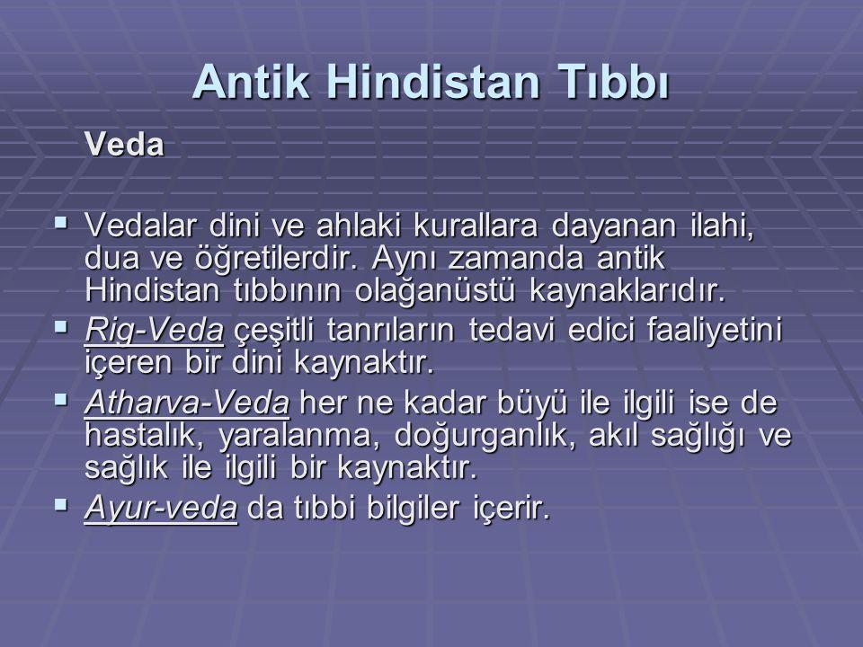 Antik Hindistan Tıbbı Yemin Bu yeminin içeriği dinseldi.