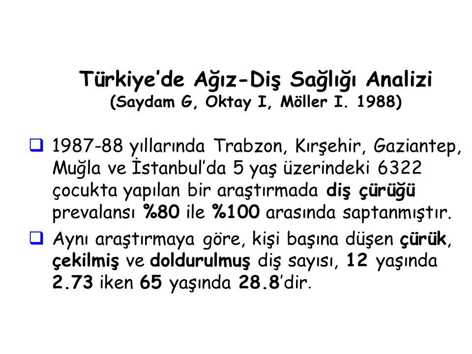 Türkiye'de Ağız-Diş Sağlığı Analizi (Saydam G, Oktay I, Möller I.