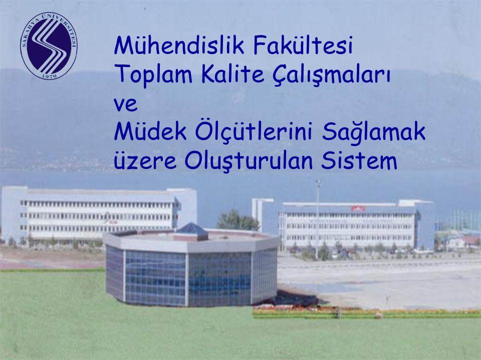 Mühendislik Fakültesi Toplam Kalite Çalışmaları ve Müdek Ölçütlerini Sağlamak üzere Oluşturulan Sistem
