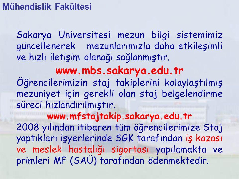 Sakarya Üniversitesi mezun bilgi sistemimiz güncellenerek mezunlarımızla daha etkileşimli ve hızlı iletişim olanağı sağlanmıştır. www.mbs.sakarya.edu.