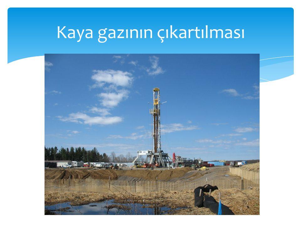  Çin'in kaya gazı rezervinin 36 trilyon metre küp olduğu tahmin edilmektedir.