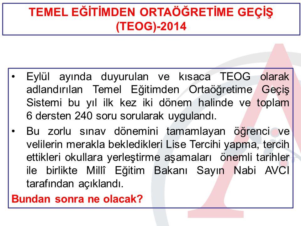 ÖNEMLİ TARİHLER TARİHAÇIKLAMA 11 Haziran 2014TEOG 2.