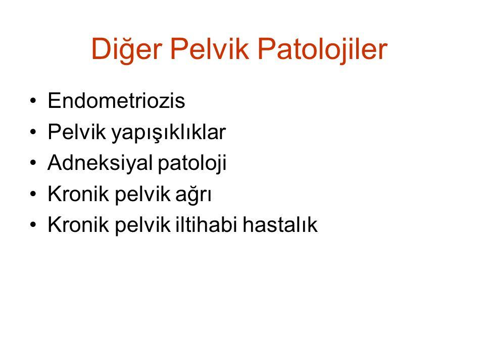 Diğer Pelvik Patolojiler Endometriozis Pelvik yapışıklıklar Adneksiyal patoloji Kronik pelvik ağrı Kronik pelvik iltihabi hastalık