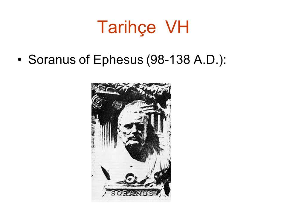 Tarihçe VH Soranus of Ephesus (98-138 A.D.):