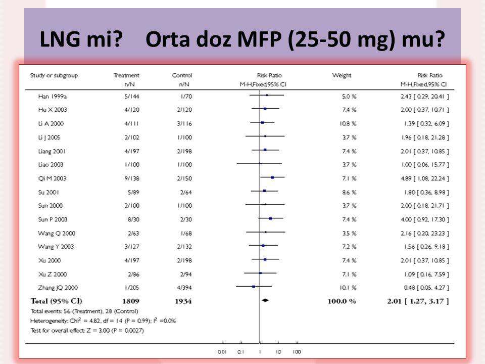 LNG mi? Orta doz MFP (25-50 mg) mu?