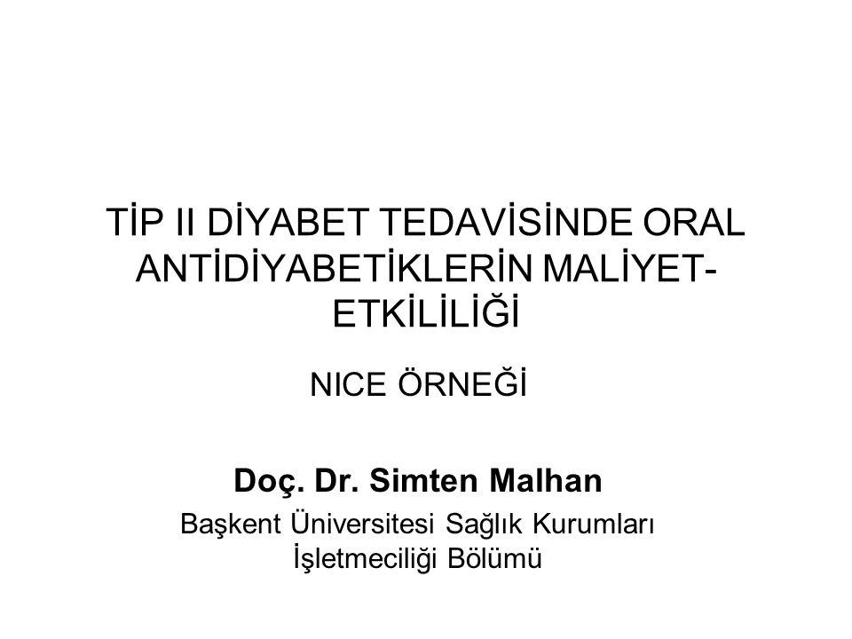 Tedavi Algoritması Birinci basamakta standart tedavi: Metformin İkinci basamak standart tedavi: Sülfanilüreler Üçüncü basamak tedavi:.