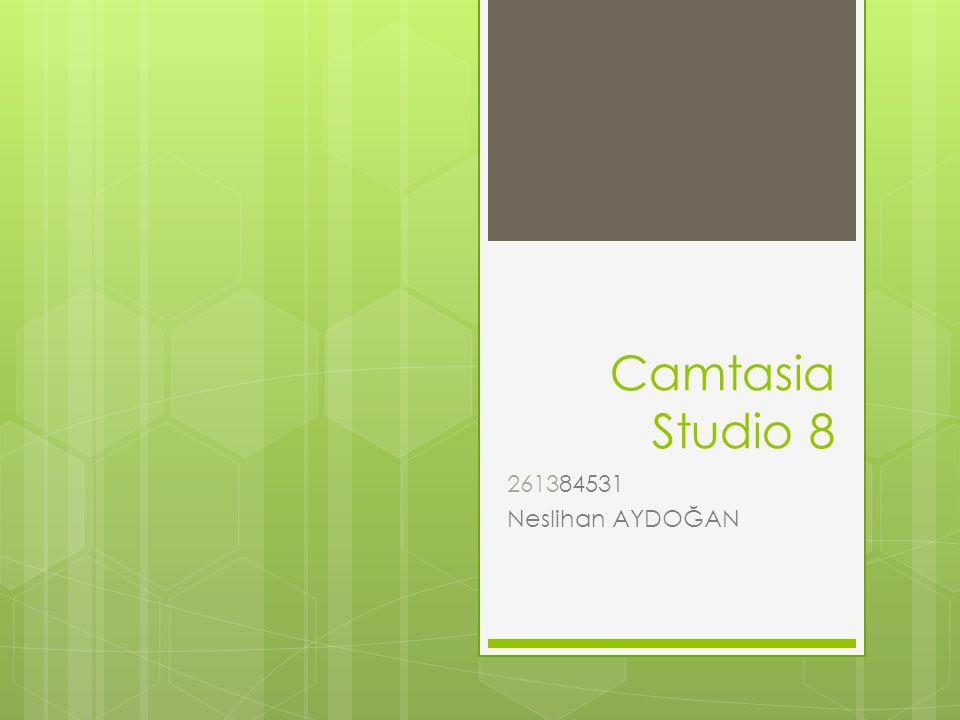 Camtasia Studio 8 261384531 Neslihan AYDOĞAN