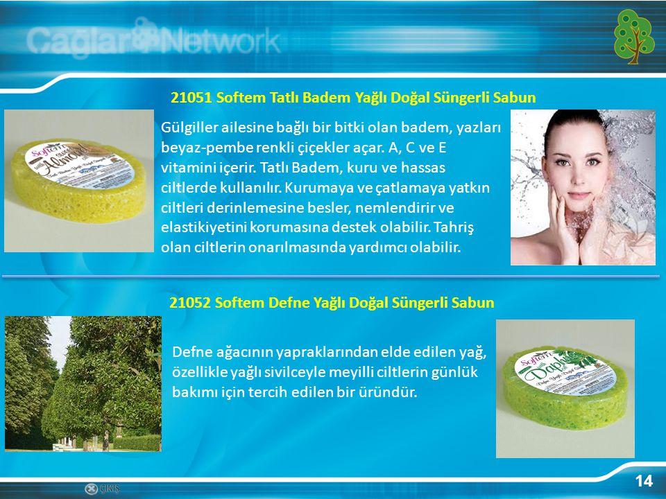 14 21051 Softem Tatlı Badem Yağlı Doğal Süngerli Sabun Gülgiller ailesine bağlı bir bitki olan badem, yazları beyaz-pembe renkli çiçekler açar. A, C v