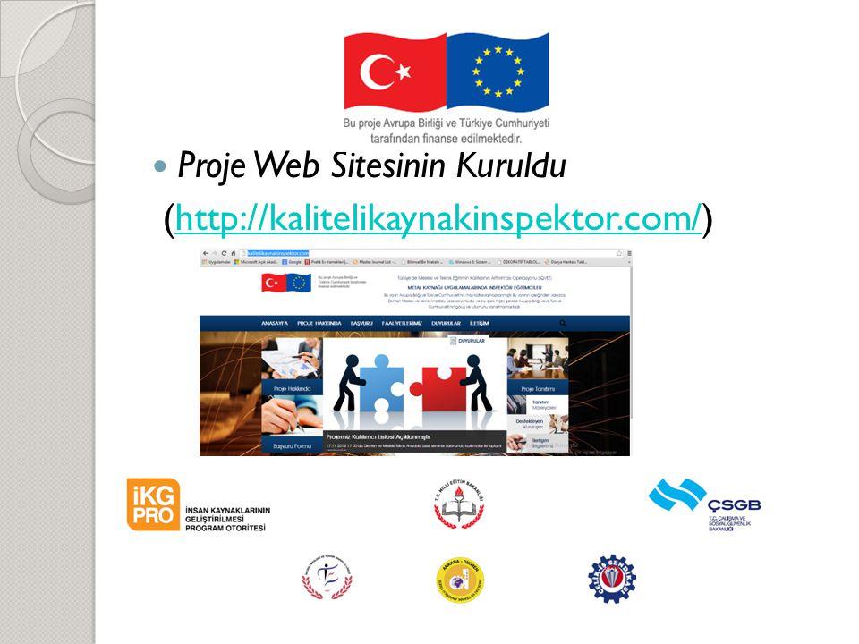 Proje Web Sitesinin Kuruldu (http://kalitelikaynakinspektor.com/)http://kalitelikaynakinspektor.com/