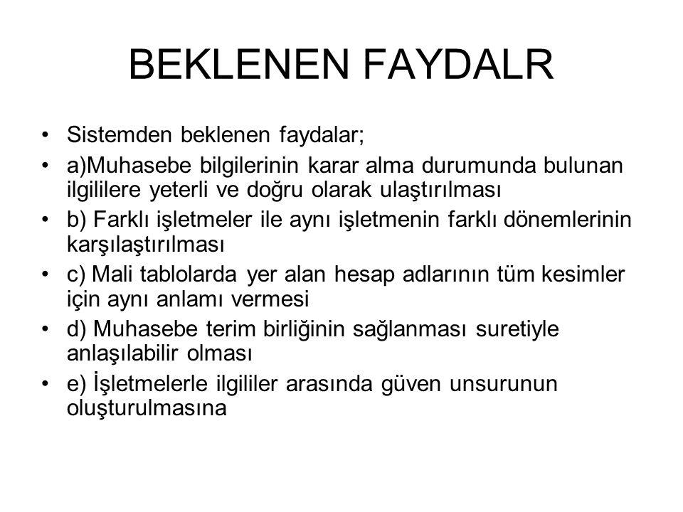 MUHASEBE TEMEL KAVRAMLARI MUHASEBENİN TEMEL KAVRAMLARI 1.
