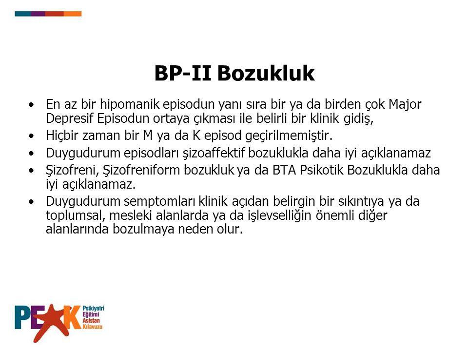 Akut BP-II Bozukluk ve Depresyon Tedavi Yatham, 2007 Tedaviler: 1.