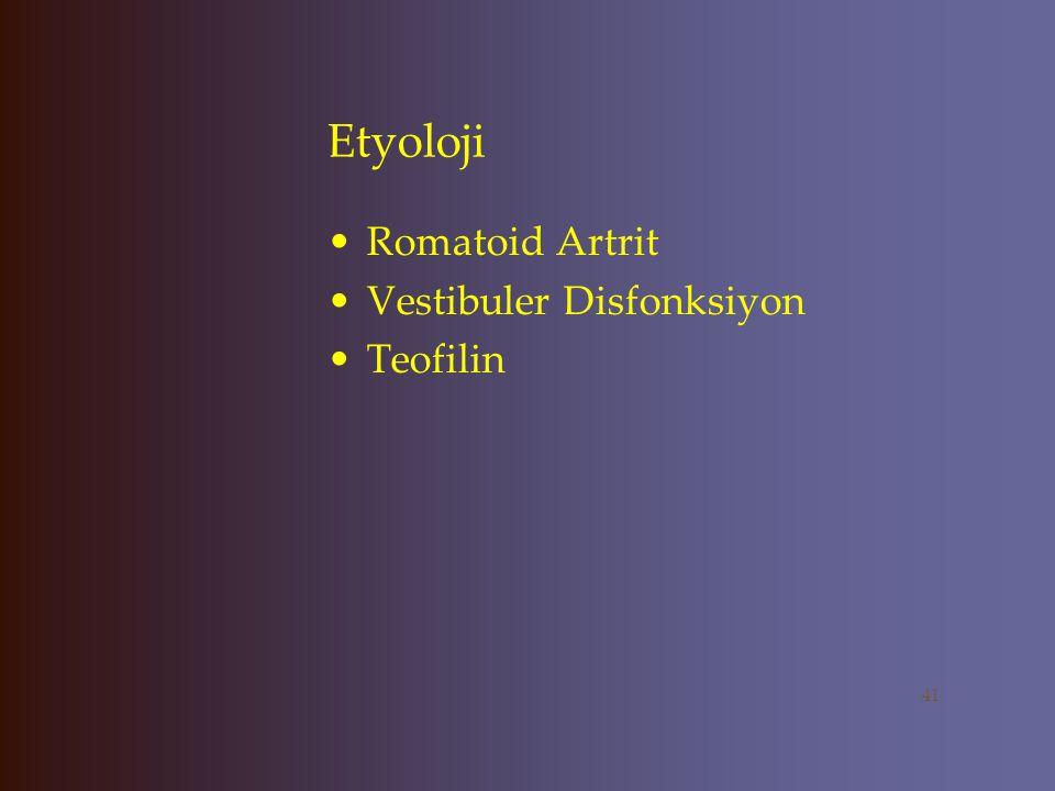 Etyoloji KKY Pulmoner Ödem COPD Hipoksi Hipoglisemi Epilepsi Migren Feokromasitoma Porfiri 40