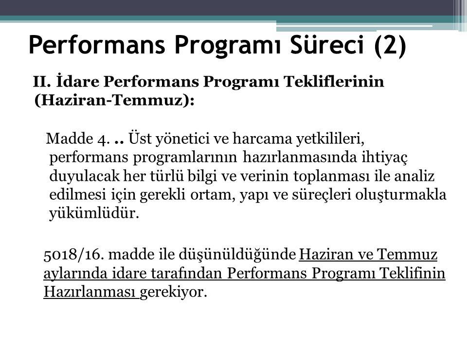 Performans Programı Süreci (2) II.