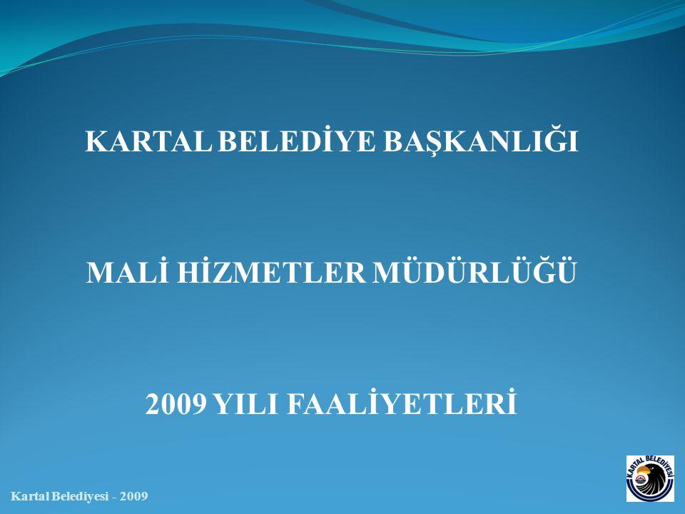 MALİ HİZMETLER MÜDÜRLÜĞÜ Kartal Belediyesi - 2009 Yıllara Göre Çevre Temizlik Vergisi Gelirleri (TL)
