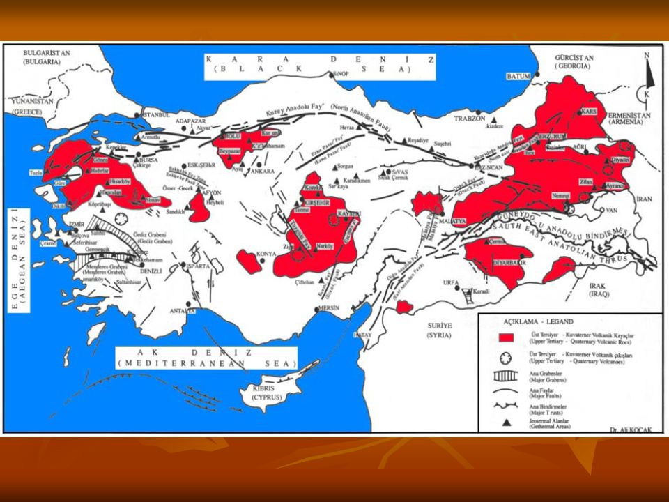 500 m.Derinlikteki Sıcaklık Haritası (Başel vd, 2009) 1000 m.