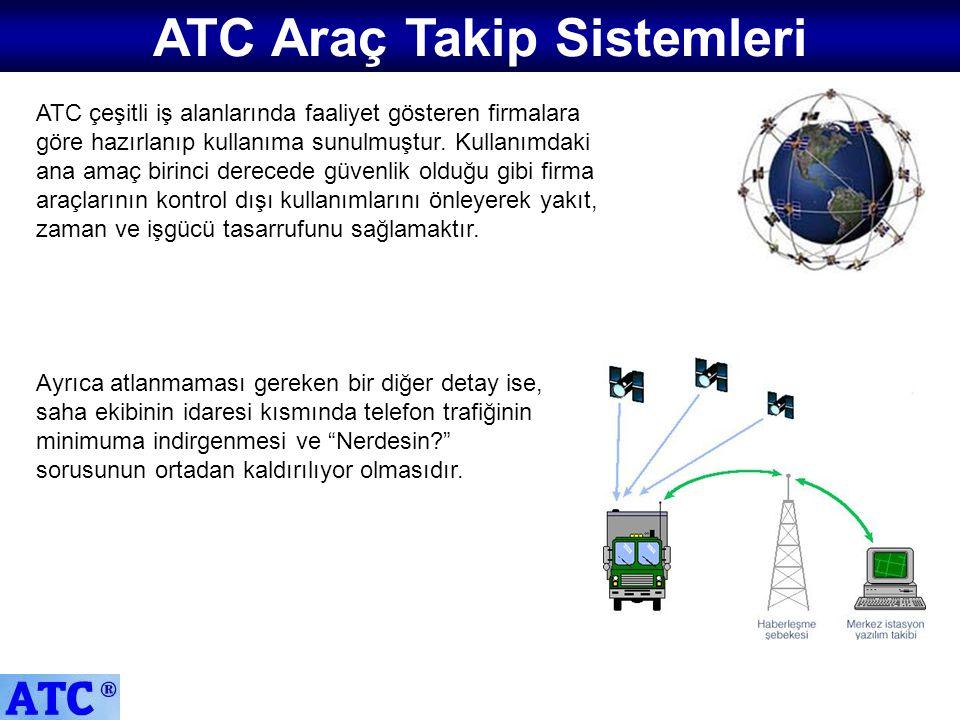 ATC çeşitli iş alanlarında faaliyet gösteren firmalara göre hazırlanıp kullanıma sunulmuştur. Kullanımdaki ana amaç birinci derecede güvenlik olduğu g