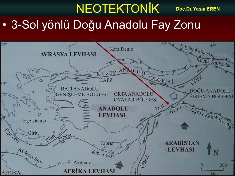 NEOTEKTONİK Doç.Dr. Yaşar EREN 3-Sol yönlü Doğu Anadolu Fay Zonu