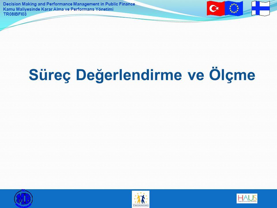 Decision Making and Performance Management in Public Finance Kamu Maliyesinde Karar Alma ve Performans Yönetimi TR08IBFI03 Süreç Değerlendirme ve Ölçm