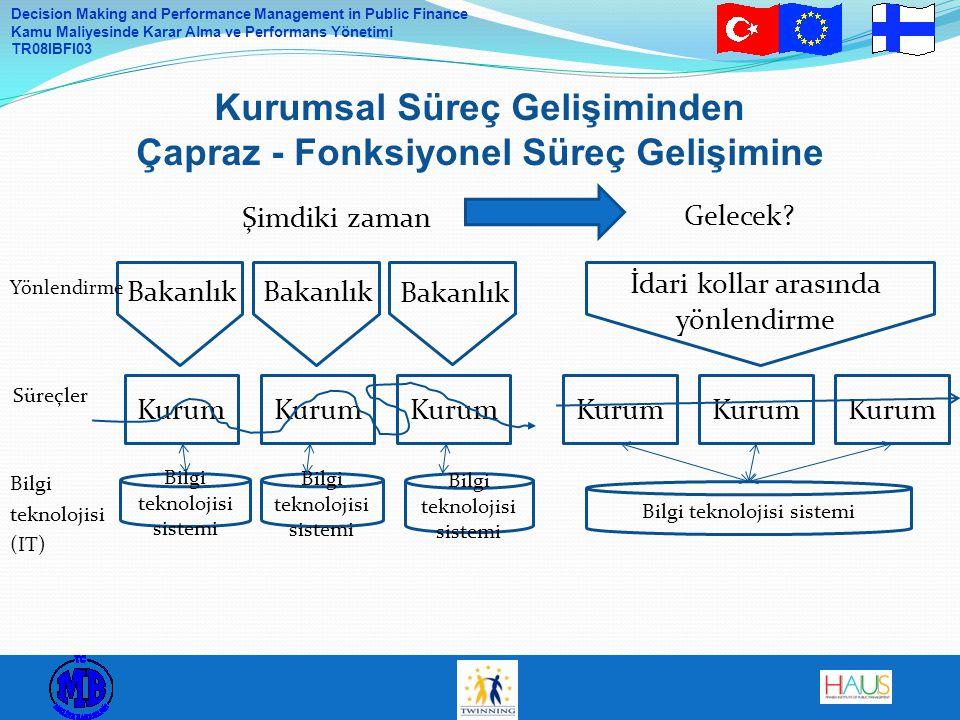 Decision Making and Performance Management in Public Finance Kamu Maliyesinde Karar Alma ve Performans Yönetimi TR08IBFI03 Kurumsal Süreç Gelişiminden