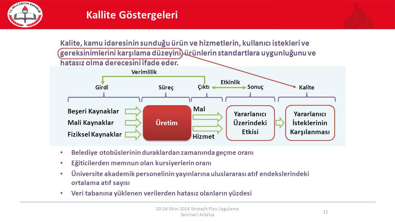 Kalite, kamu idaresinin sunduğu ürün ve hizmetlerin, kullanıcı istekleri ve gereksinimlerini karşılama düzeyini, ürünlerin standartlara uygunluğunu ve