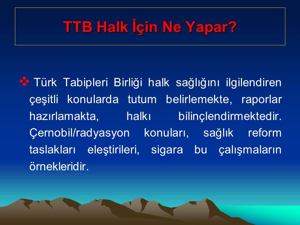 TTB Halk İçin Ne Yapar.