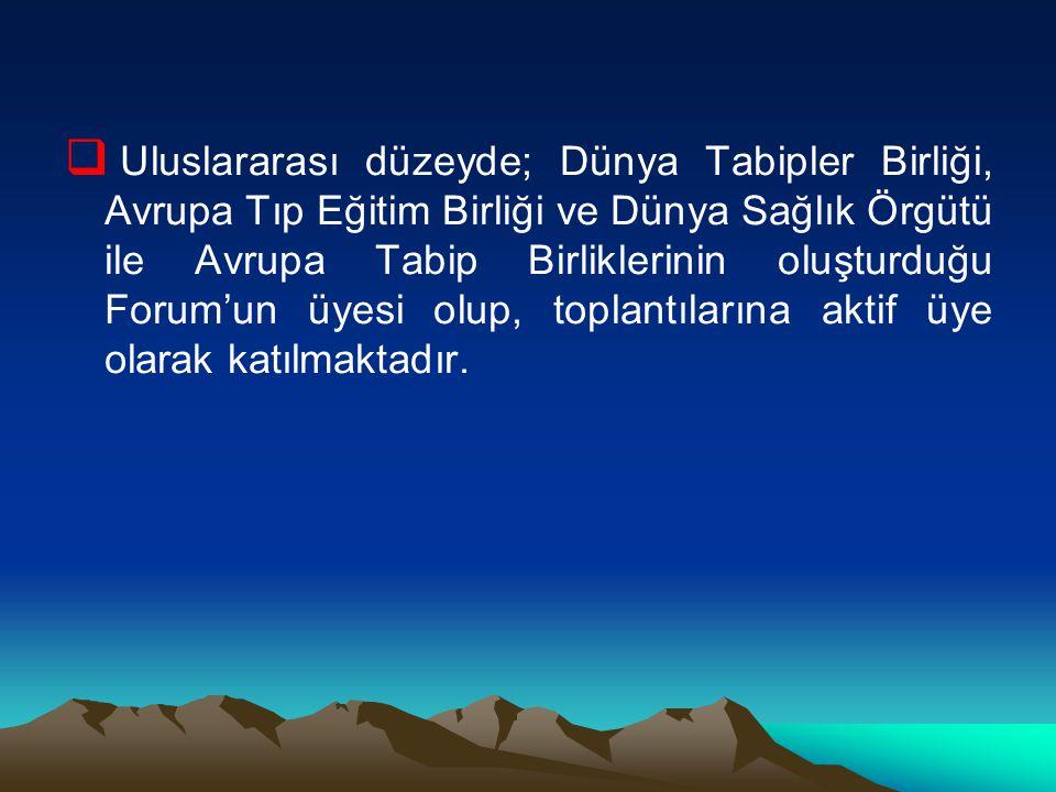 Türk Tabipleri Birliği Meslek İçin Ne Yapar.