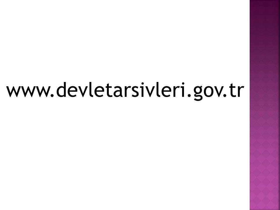 www.devletarsivleri.gov.tr