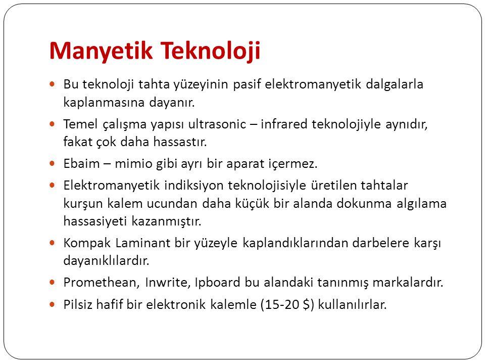 Manyetik Teknoloji Bu teknoloji tahta yüzeyinin pasif elektromanyetik dalgalarla kaplanmasına dayanır.