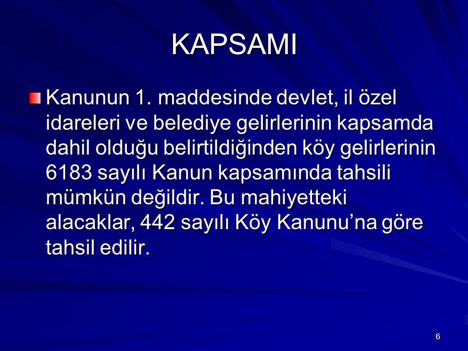 147 Köylerde Mal Bildirimi Kanunun 59.maddesinin 2.