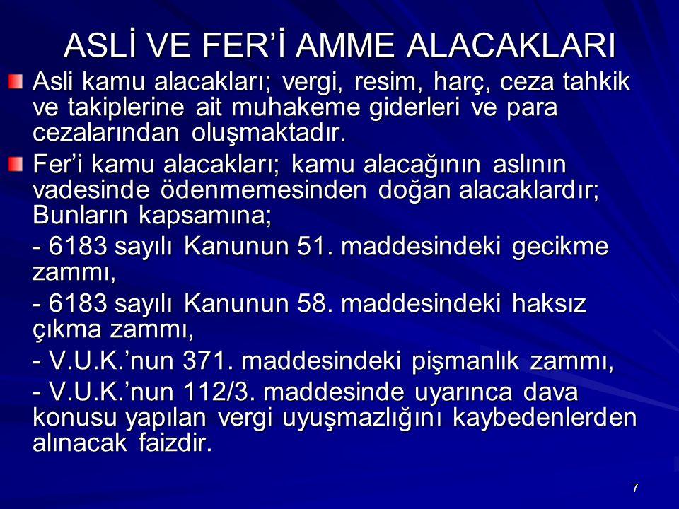 148 CEBRİ TAHSİL ŞEKİLLERİ 6183 sayılı Kanunun 54.