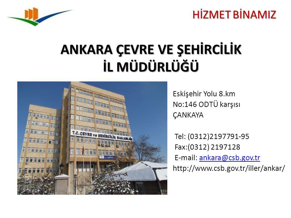Eskişehir Yolu 8.km No:146 ODTÜ karşısı ÇANKAYA Tel: (0312)2197791-95 Fax:(0312) 2197128 E-mail: ankara@csb.gov.trankara@csb.gov.tr http://www.csb.gov